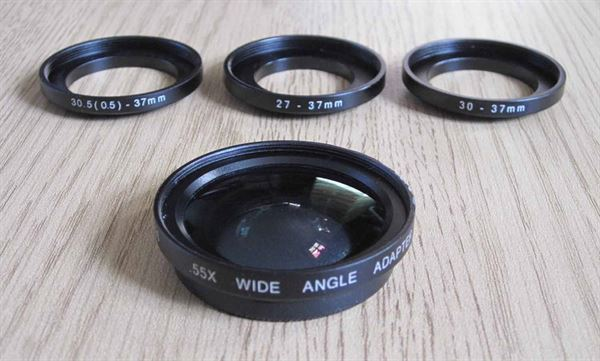 Wide angle lens adaptor