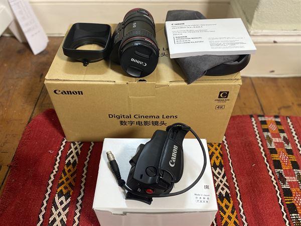 Canon CN-E18-80mm T4.4 4K EF lens with servo grip