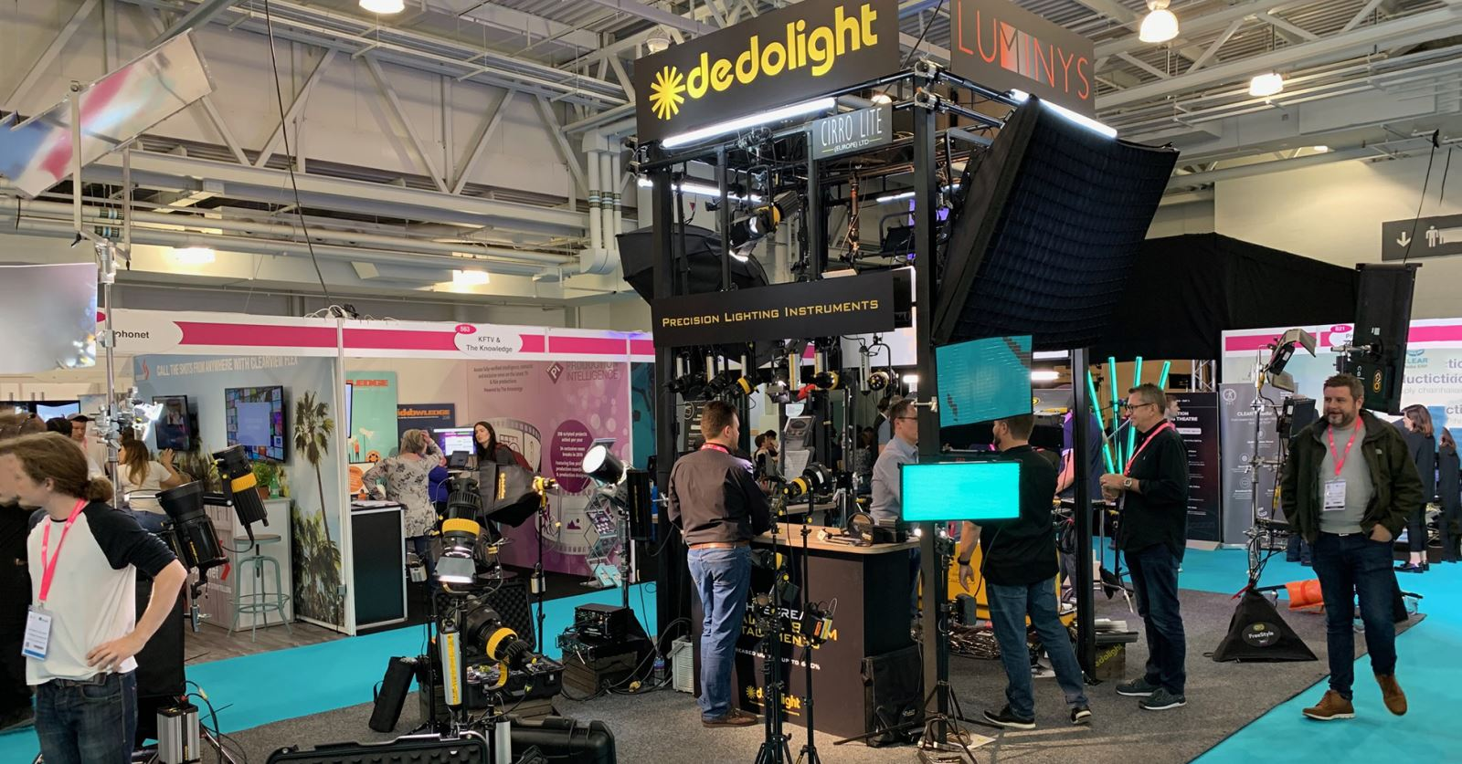GTC sponsors Dedolight's display of 'Precision Lighting Instruments' at the Media Production Show