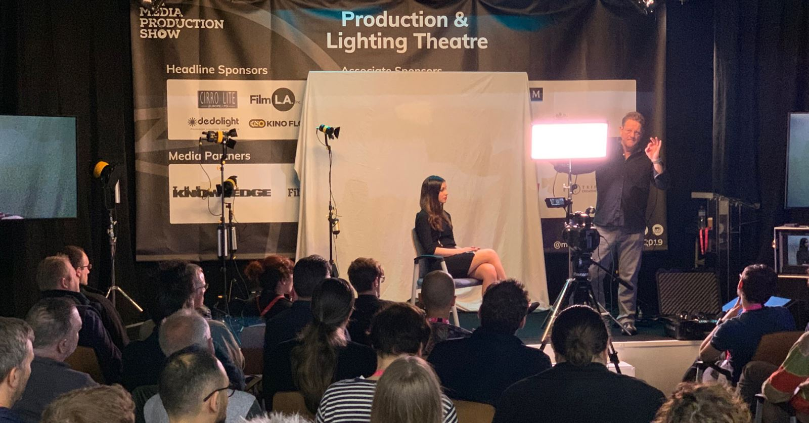 A popular lighting seminar with Jonathan Harrison at the Media Production Show at Olympia. See the GTC at Stand 572.