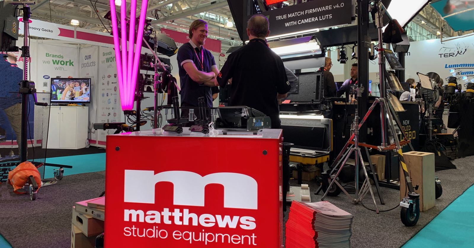 New GTC sponsor Matthews Studio Equipment are at the Media Production Show at Olympia