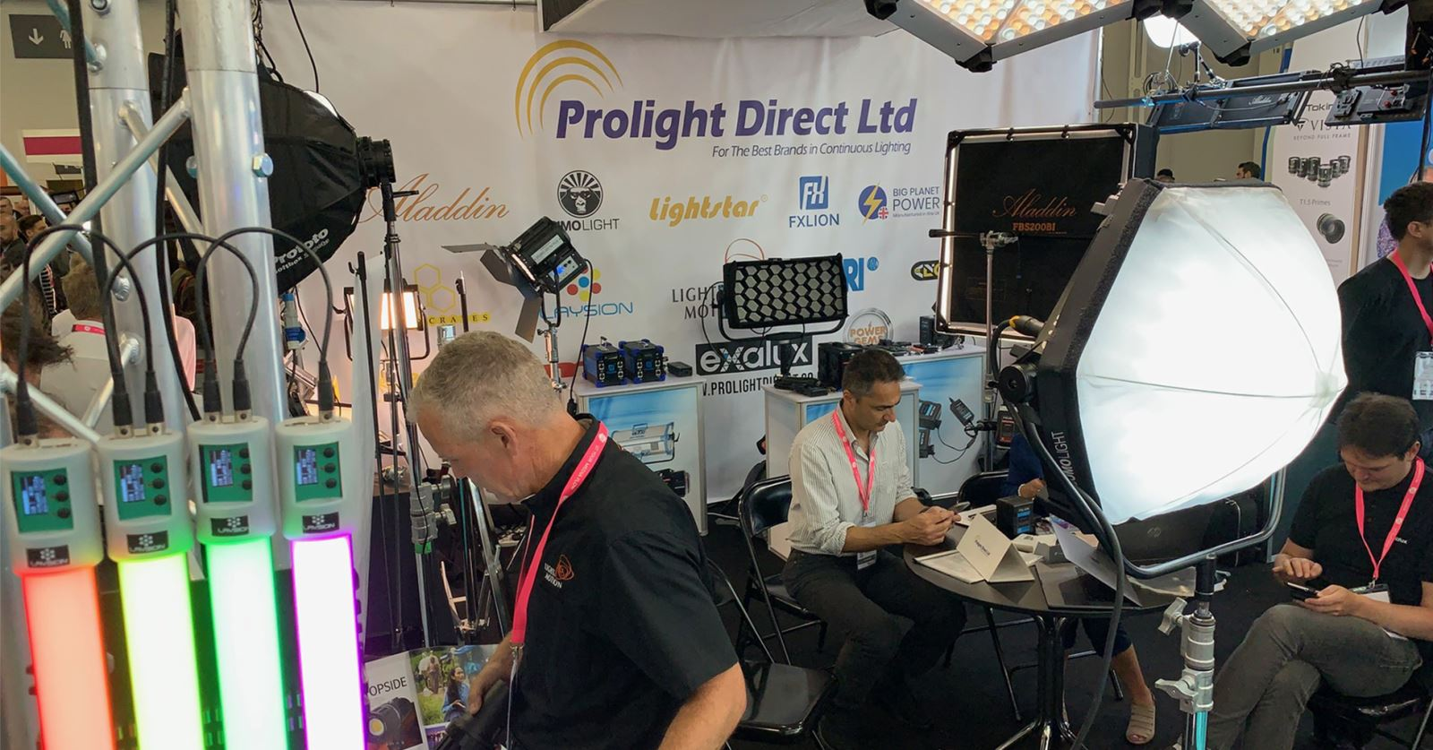 GTC sponsor Prolight Direct is at the Media Production Show with a wide range of lighting tools on display