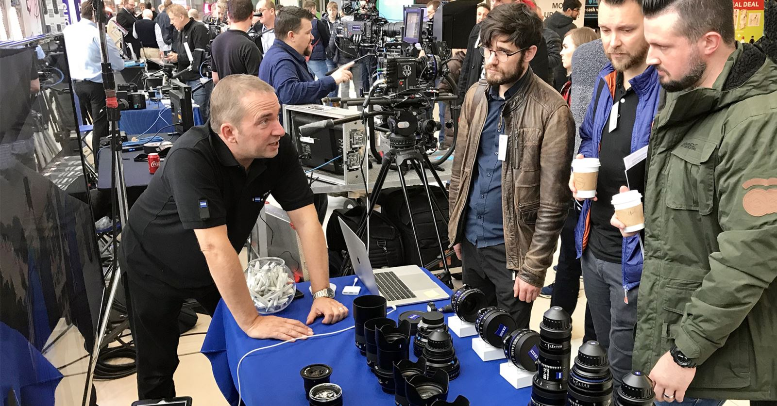 GTC sponsor Zeiss's stand attracts an interested crowd at the recent very successul KitPlus Show in Manchester