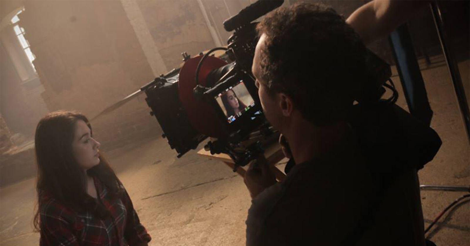 GTC member Heath McWaters on set as DoP on a recent music video shoot