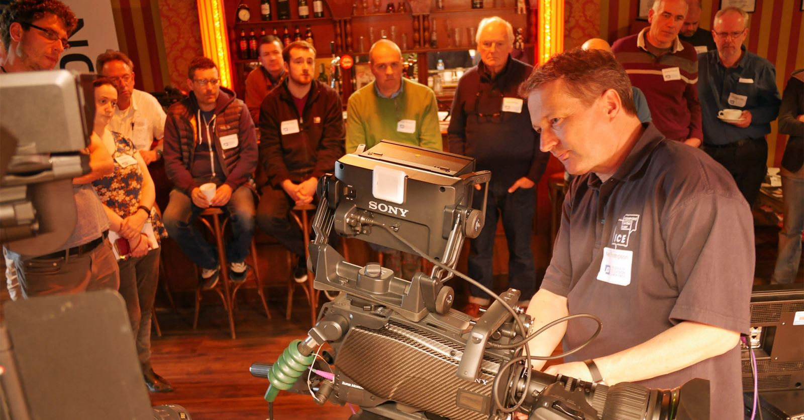 Neil Thompson demonstrating 4K, UHD and High Dynamic Range at the recent GTC workshop