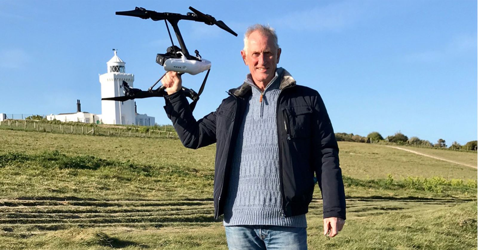 Welcome to new GTC member Alan Scott, seen here at Dover Lighthouse with a DJI Inspire 1 Pro + Zenmuse X5 4K camera