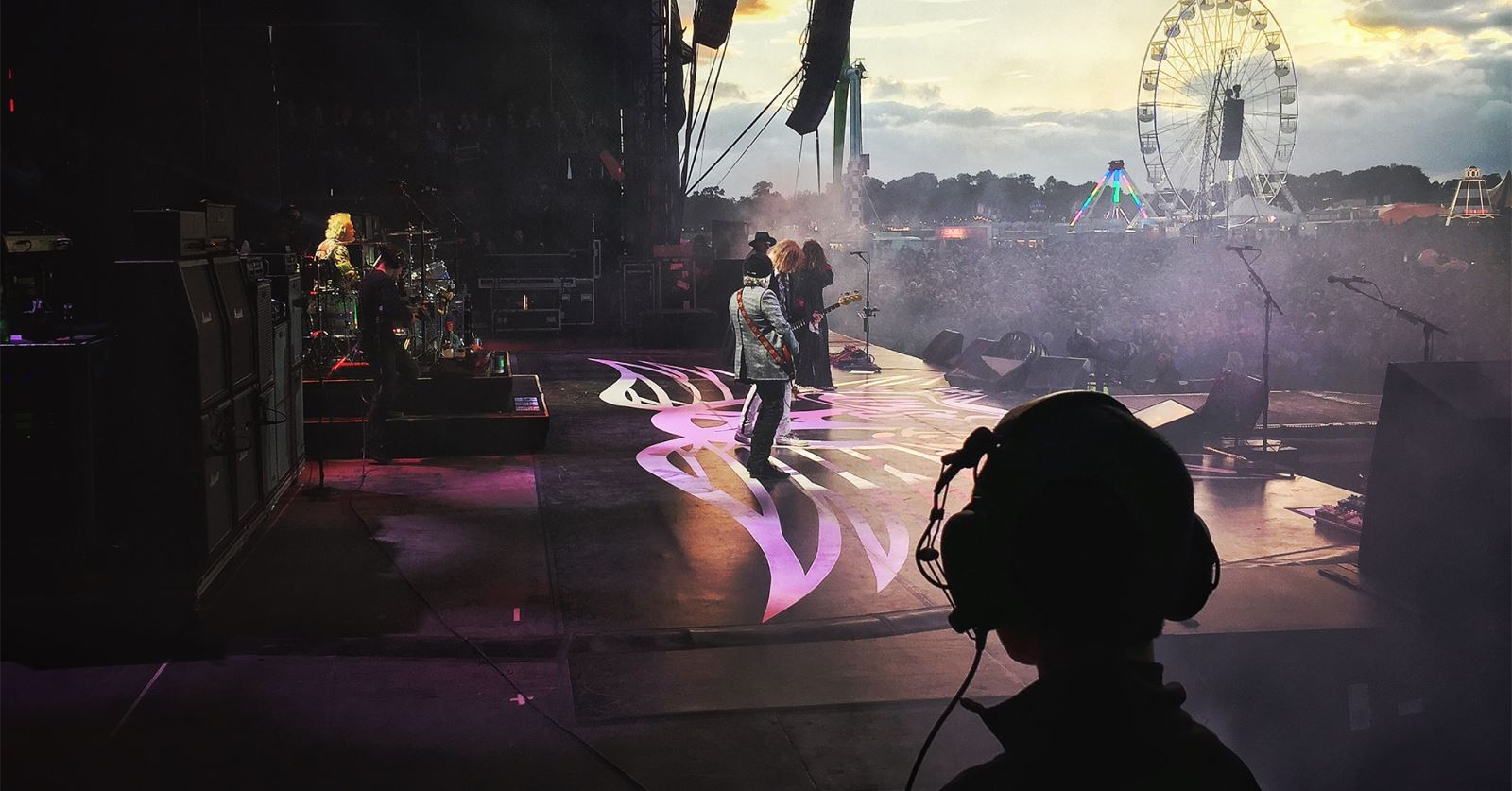 View from the wings for new GTC member Anna Lucia Sadler: Aerosmith at Download Festival, photo by Steve Angell