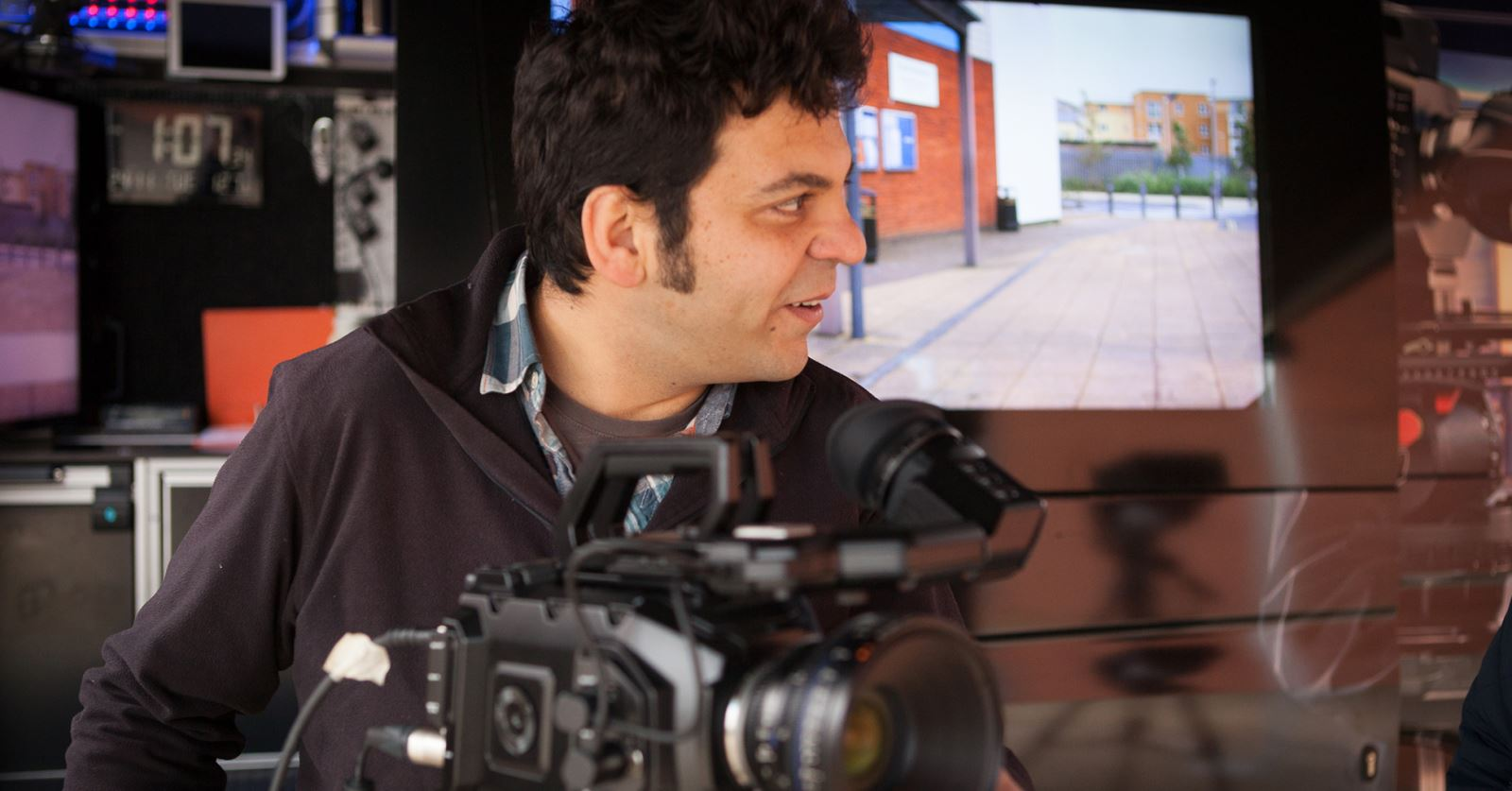 Welcome to new GTC member Atila Mustafa - trying out the latest Blackmagic cameras at their recent roadshow