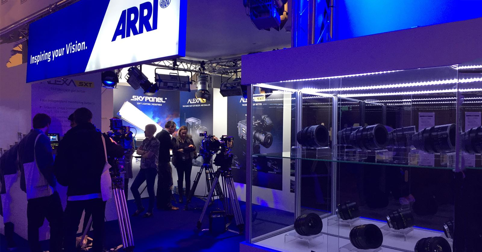 GTC sponsors ARRI's stand at the Camerimage exhibition in Bydgoszcz, Poland