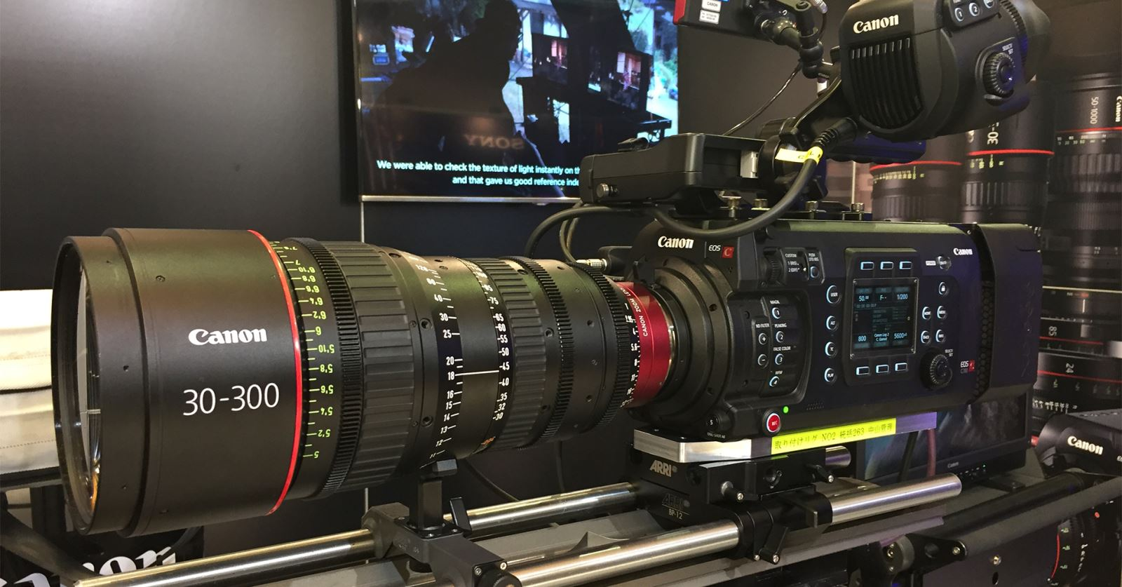 Canon 30–300 lens on display at the recent Camerimage exhibition in Bydgoszcz
