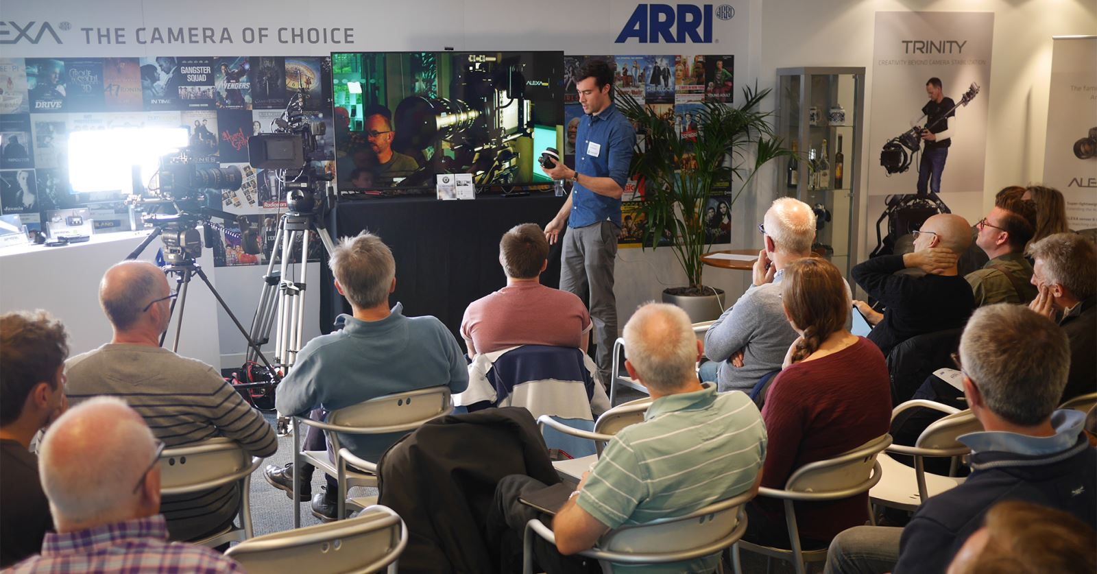 Oliver Janesh Christiansen demonstrating Cinefade at the recent GTC 'In camera effects' workshop kindly hosted by ARRI