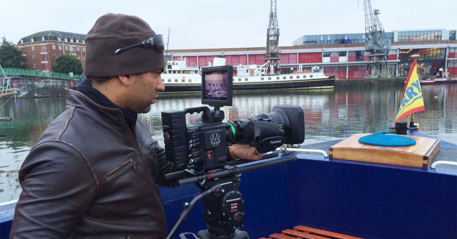 DoP Christian Dimitrius trying out the brand new Helium 8K sensor RED camera in Bristol at Wildscreen