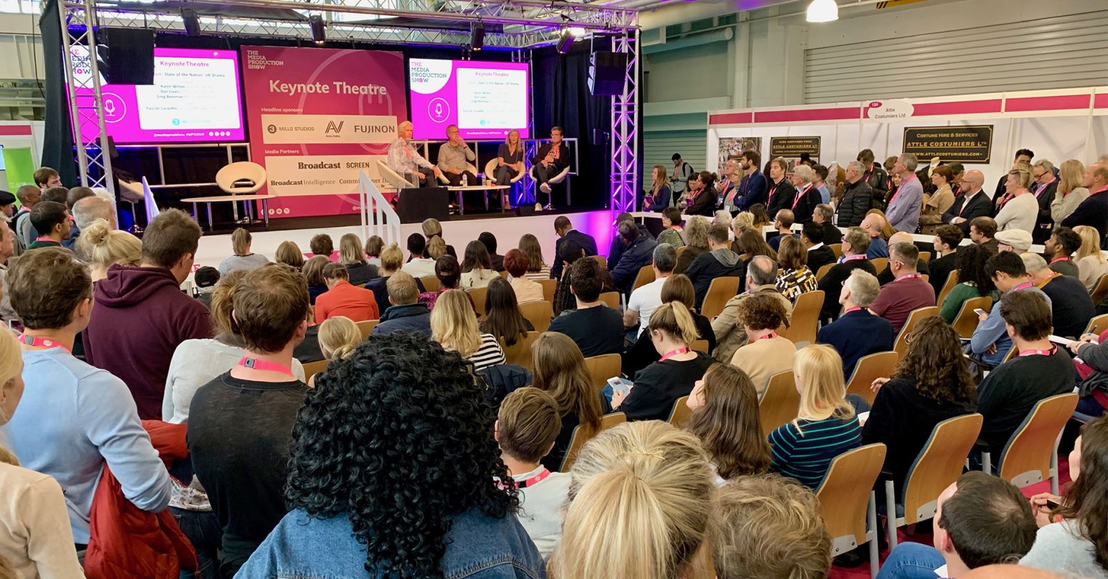 Record crowds attended this year's very successful Media Production Show meaning the Keynote Theatre was constantly full