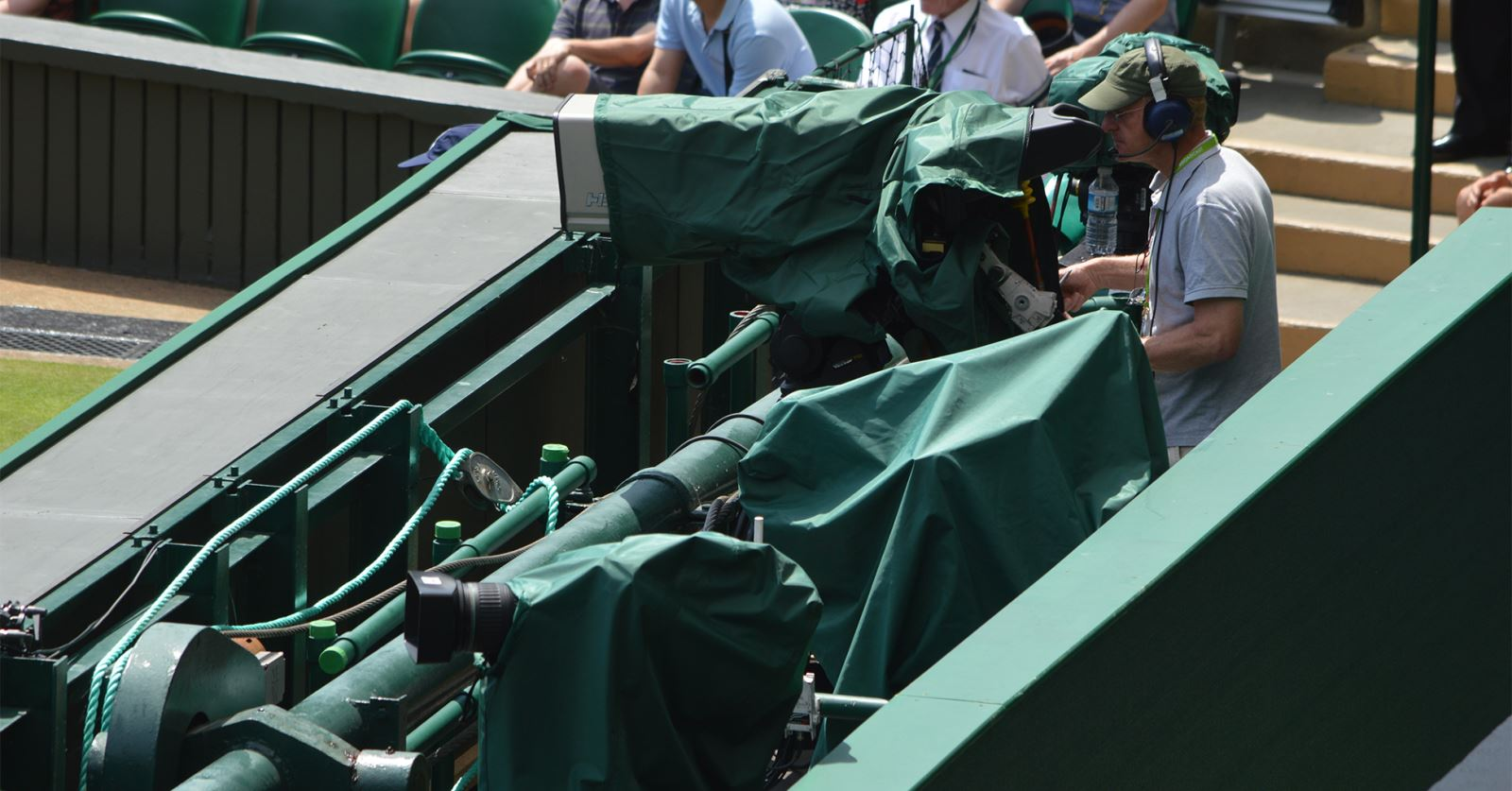 Camera covers from our latest new sponsor company, CP Cases, in action at the Wimbledon Tennis Championships