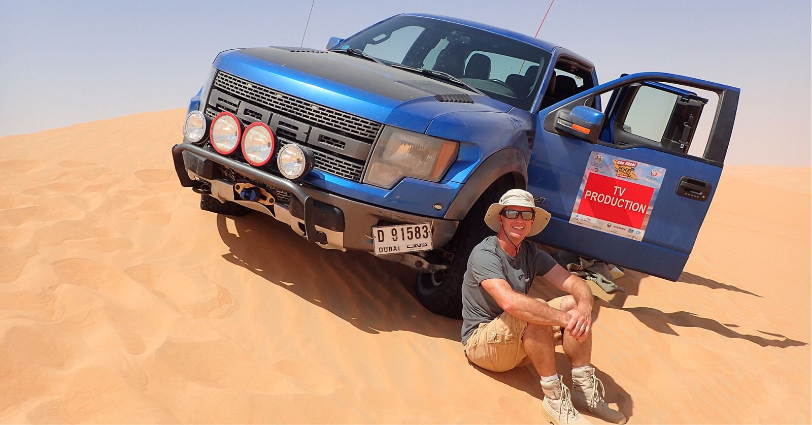 Welcome to new GTC member Damian Barker - seen here working on the Abu Dhabi Desert Challenge