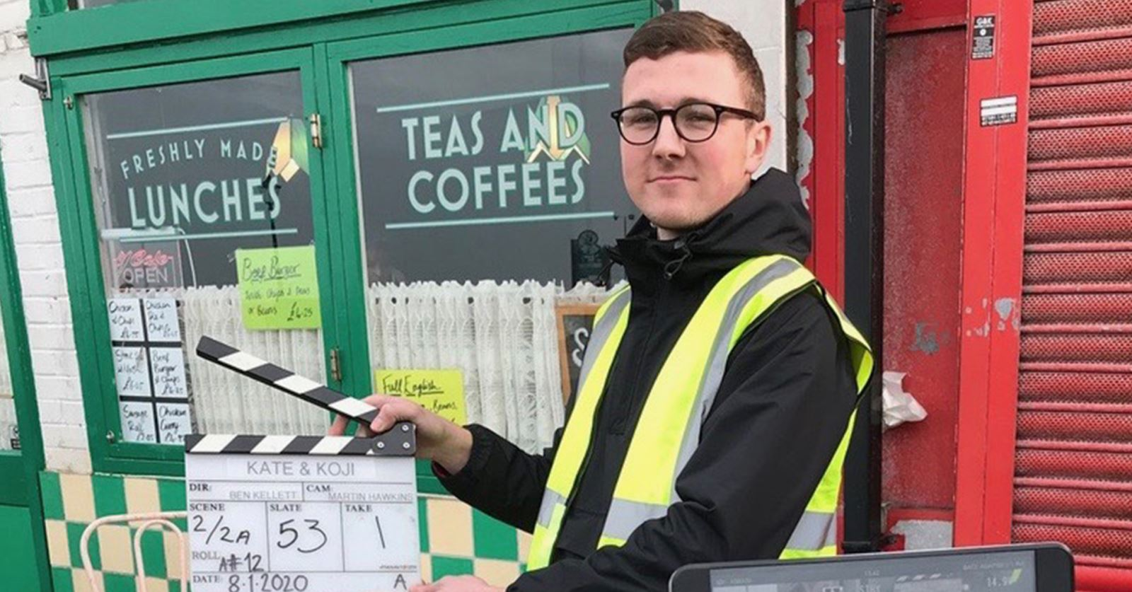 Dennis Griscenko, runner-up in the 2019 GTC Bill Vinten Awards, has just enjoyed work experience with DoP Martin Hawkins