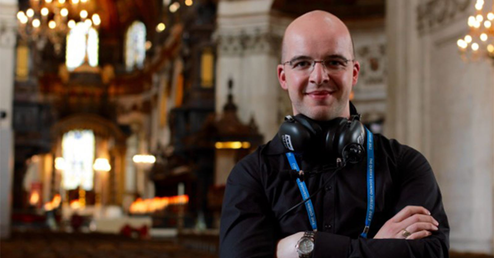 New GTC member: Freelance camera operator Dominic Hyndman working in St Paul's Cathedral