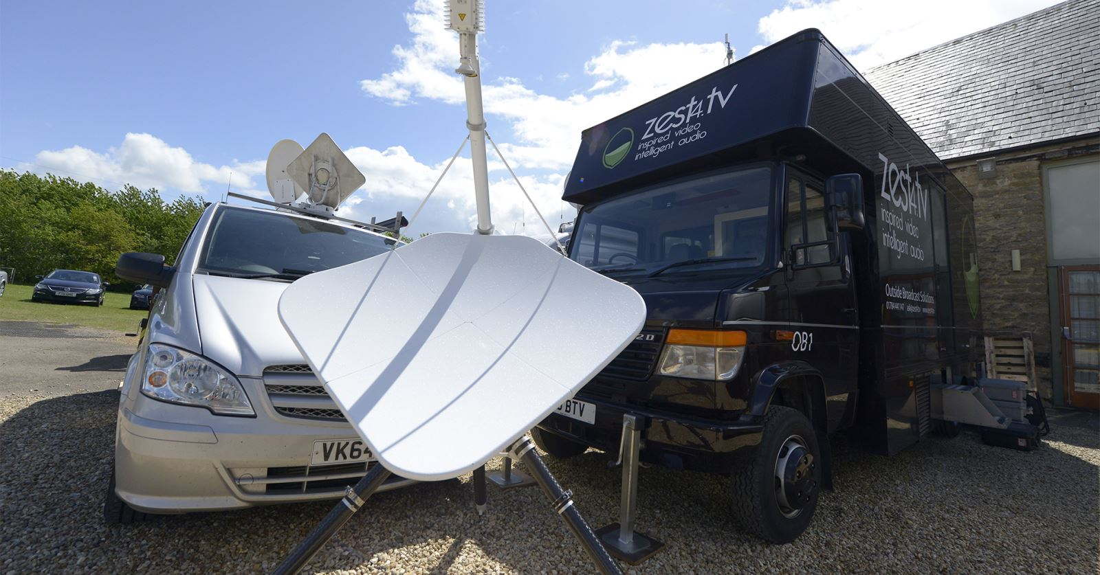 SNG Broadcast and Zest4TV trucks set and ready for live streaming the GTC Awards tonigh - watch the live stream