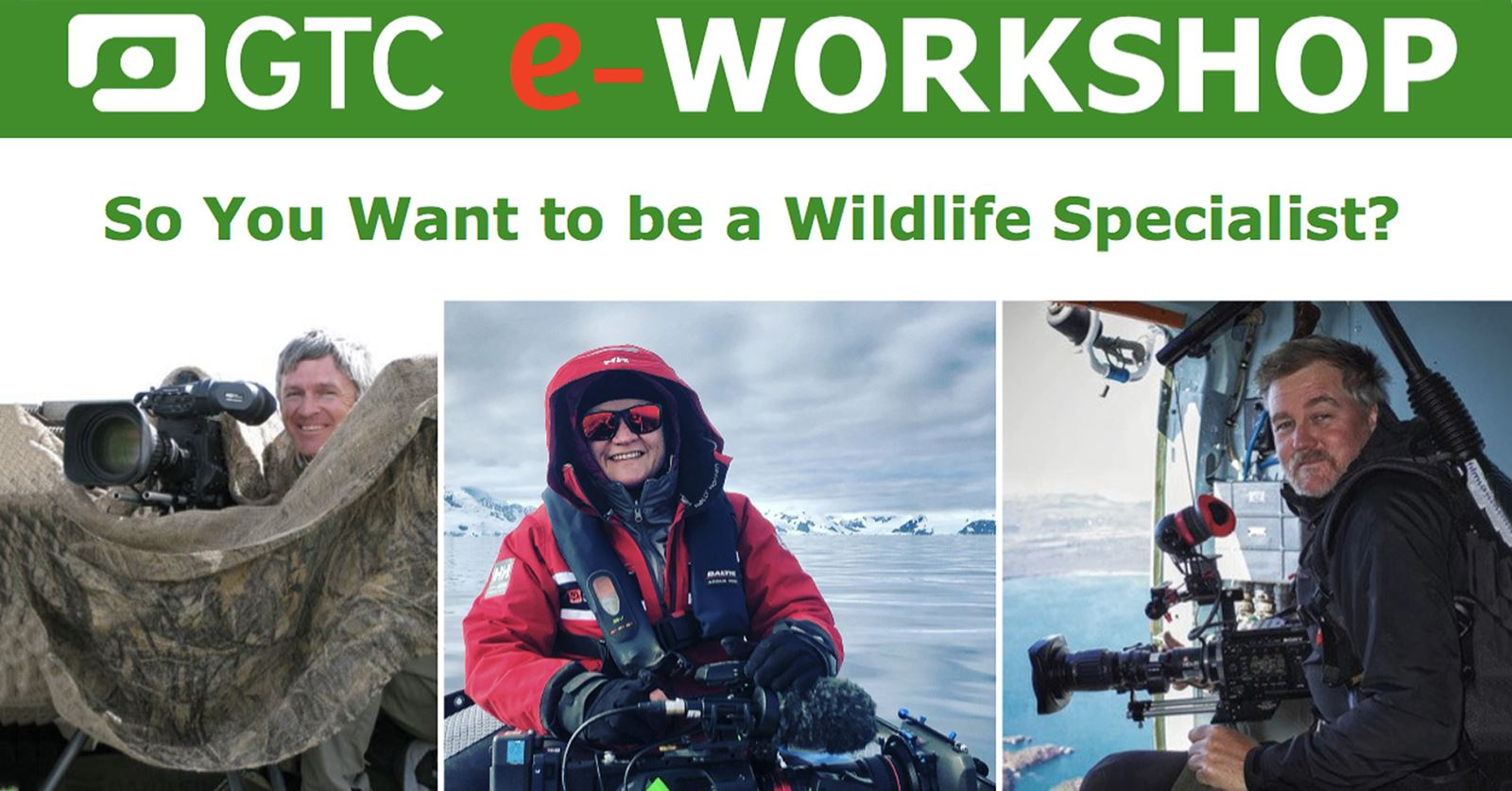 The recording of the GTC eWorkshop So you want be a wildlife specialist? is now available for members - click to view it