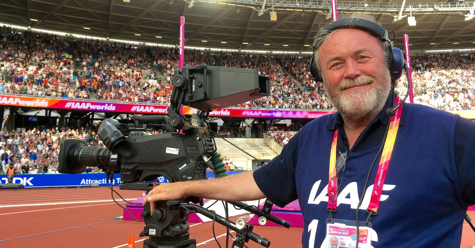 Former GTC Chairman Graeme McAlpine working on the IAFF World Championships 2017 in the Olympic Stadium