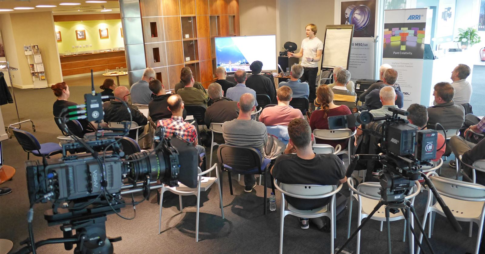 GTC members learning how to achieve 'In camera effects' from timelapse and hyperlapse expert Paul Richardson