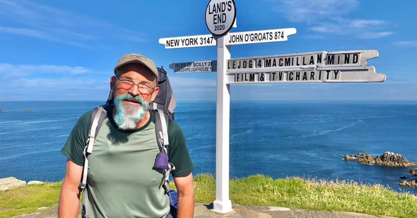 And he's off... GTC member John Barrow has set off on his epic walk for 3 great charities: Mind, MacMillan and Film + TV
