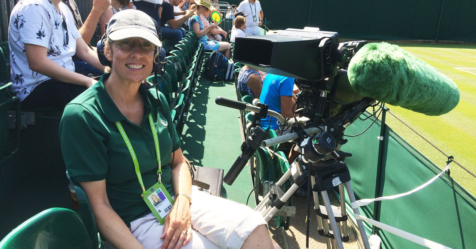 GTC member Katy Eastwood waiting for play to start on Court 17 at Wimbledon this week