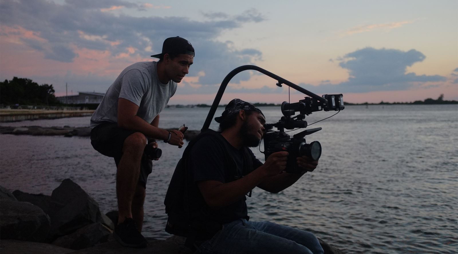 New GTC member Kurt Devonshire working on his upcoming independent short 'Stand' on the Jersey Shore, USA