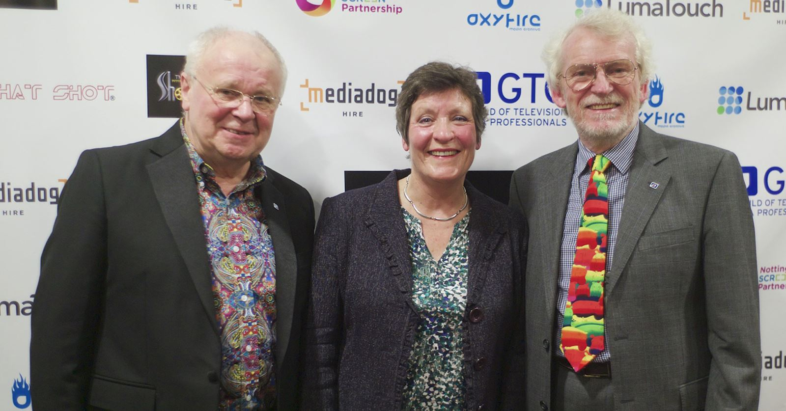 The GTC team at the International Short Film Show Awards: GTC President John Henshall, Helen Keep and John Tarby