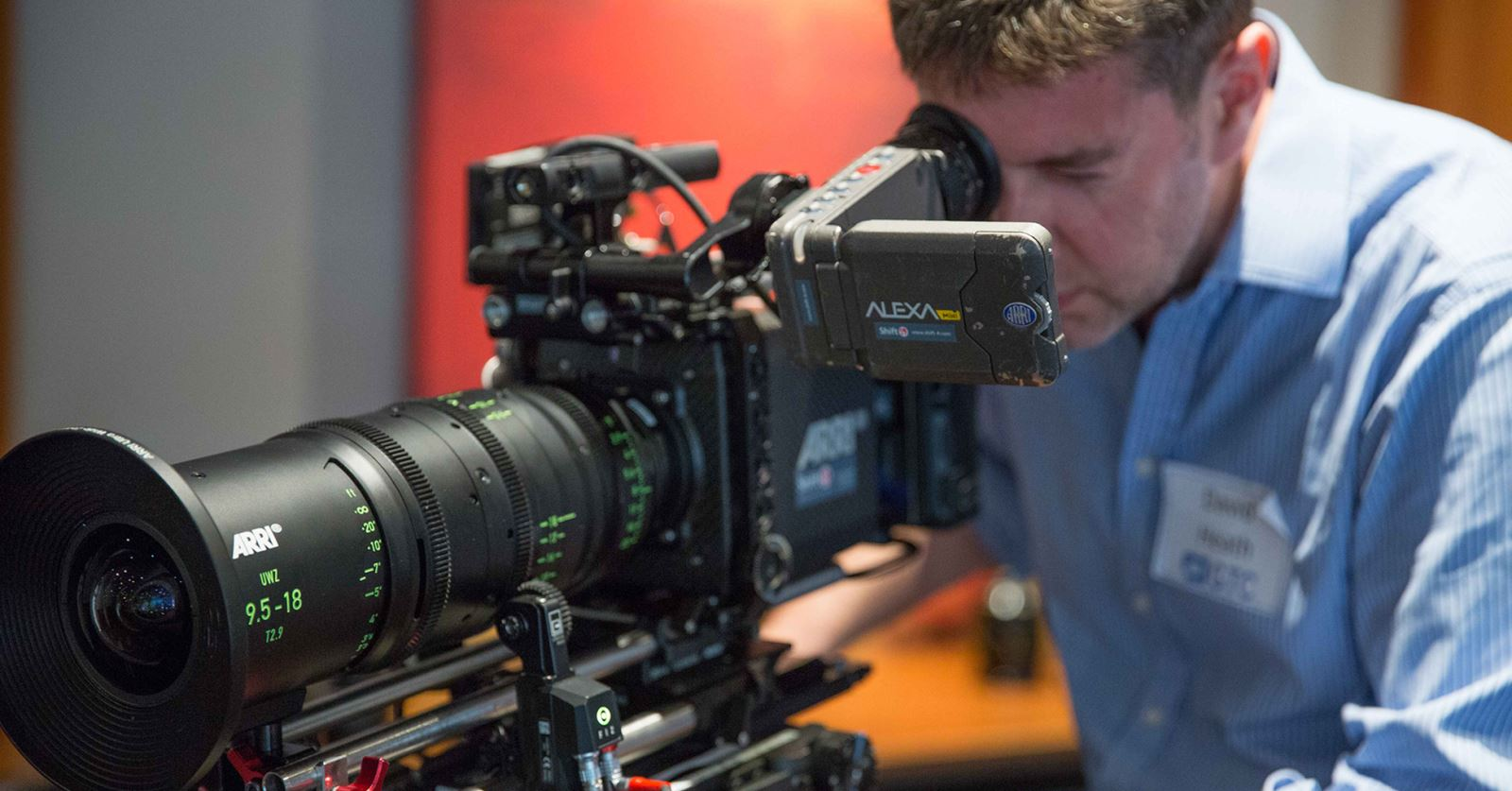 Trying out an ARRI Alexa and lens at the recent 'Getting to Grips with Lenses' GTC workshop