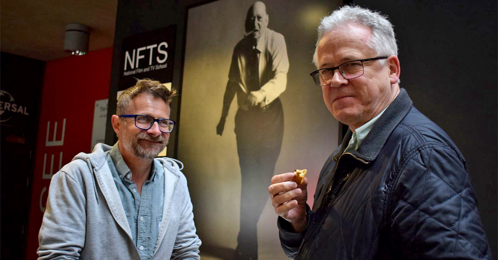 GTC workshop speakers Iain Davidson and Bernie Davis at the NFTS