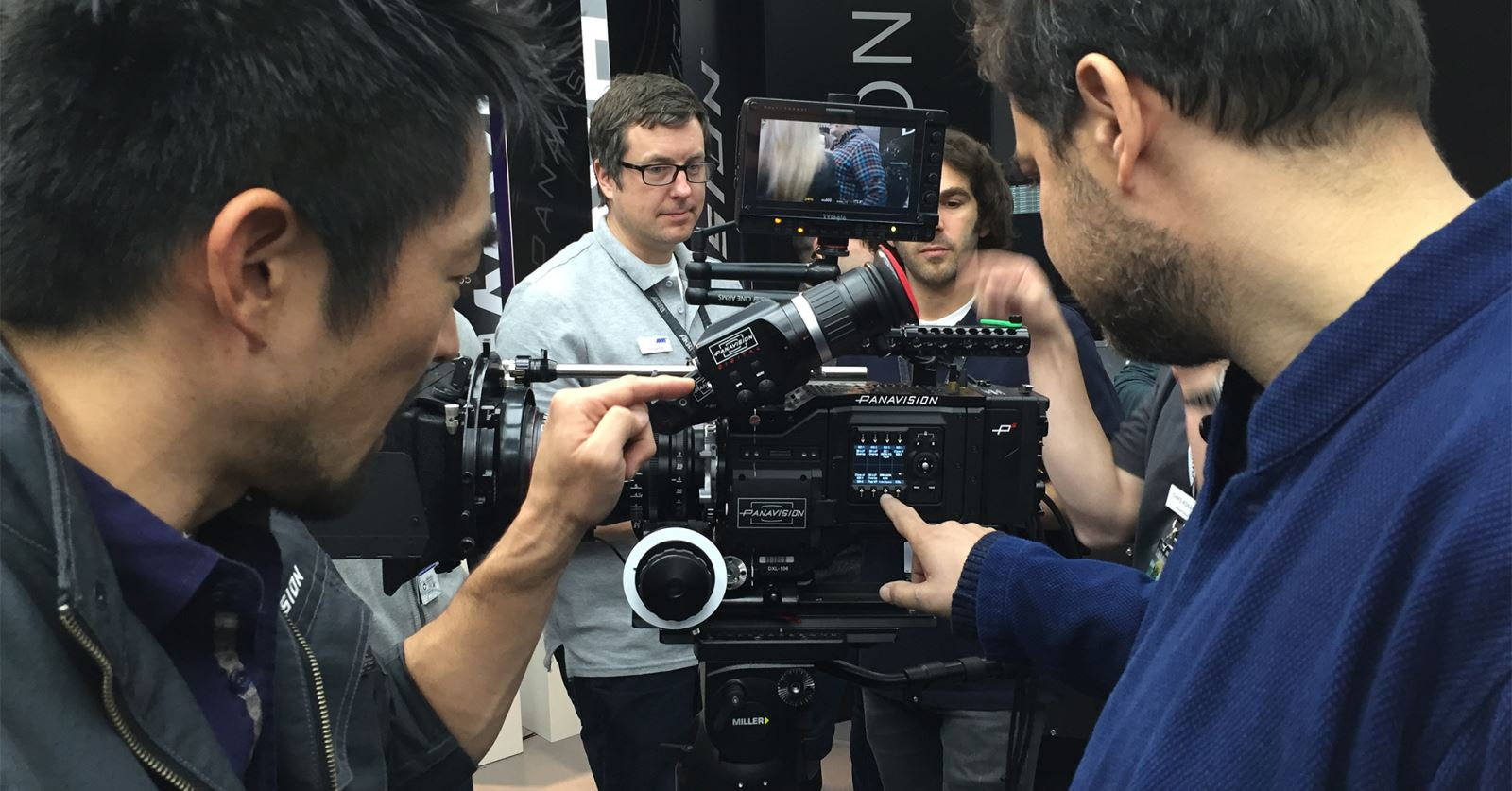 The new Millennium DXL camera from Panavision with RED body and sensor, announced at Camerimage