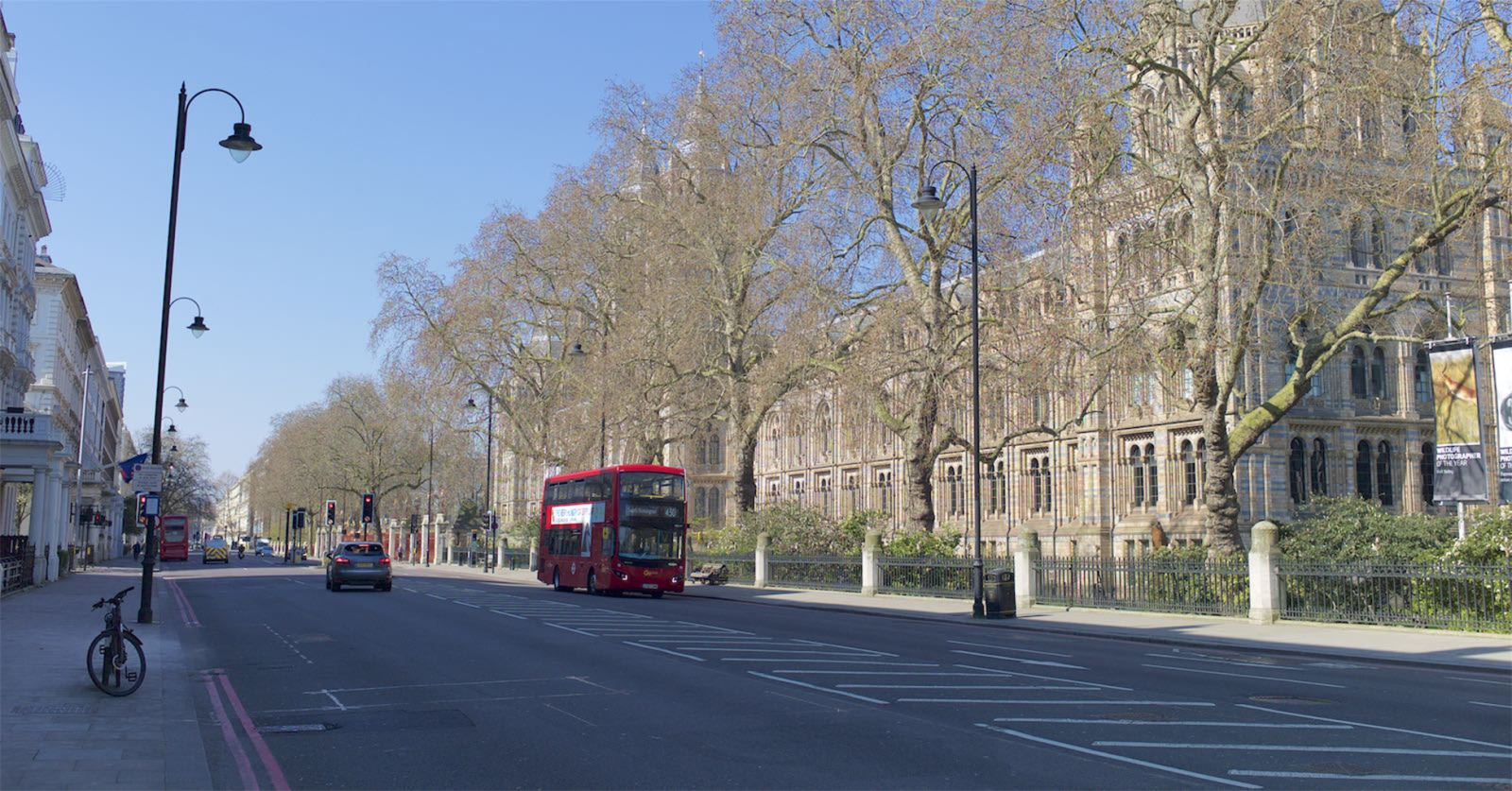 Lockdown London: Natural History Museum (captured by John Tarby en route to an essential medical appointment)
