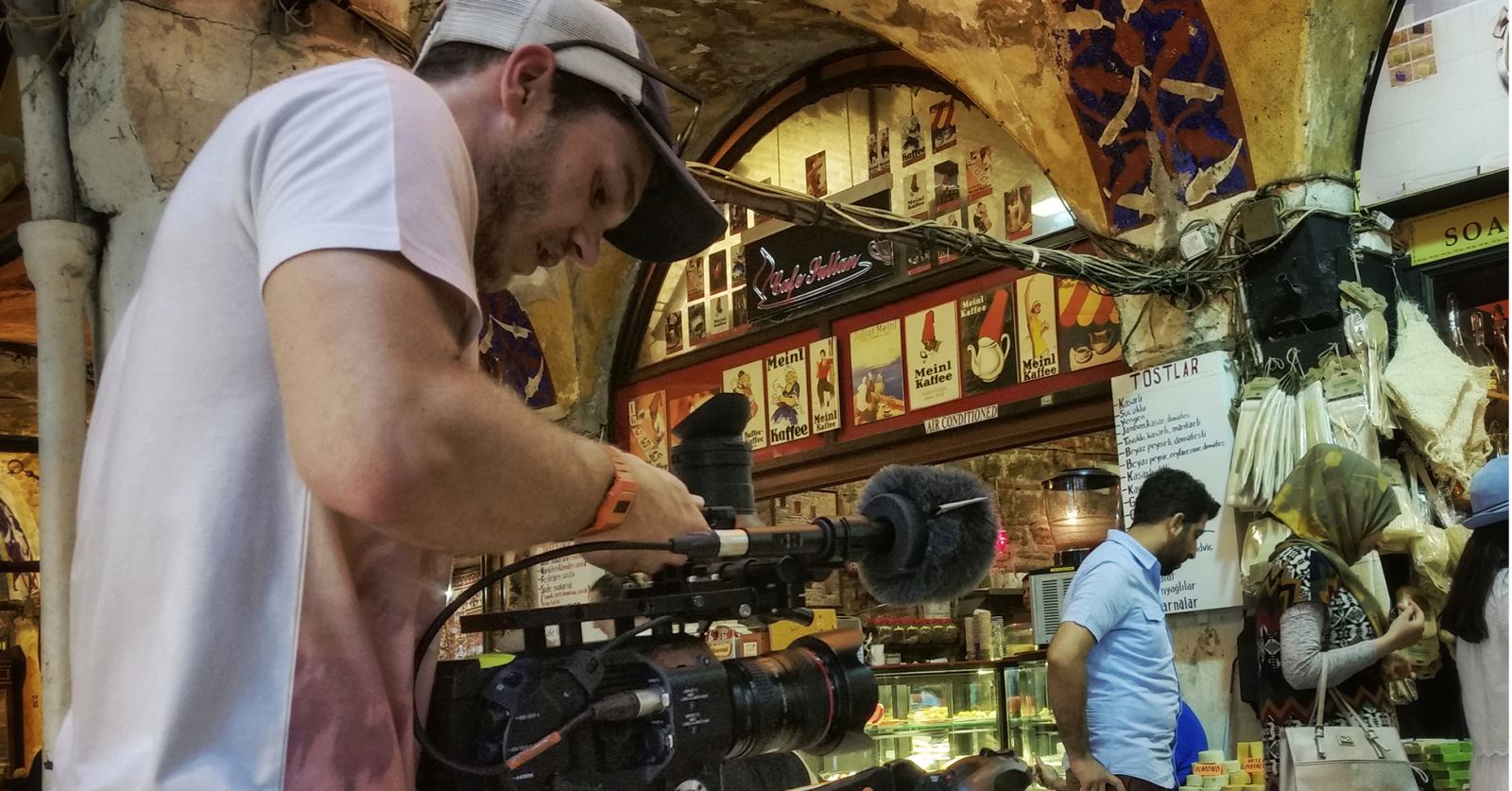 Welcome to new GTC member Niall Newport - seen here filming on a recent shoot in Turkey