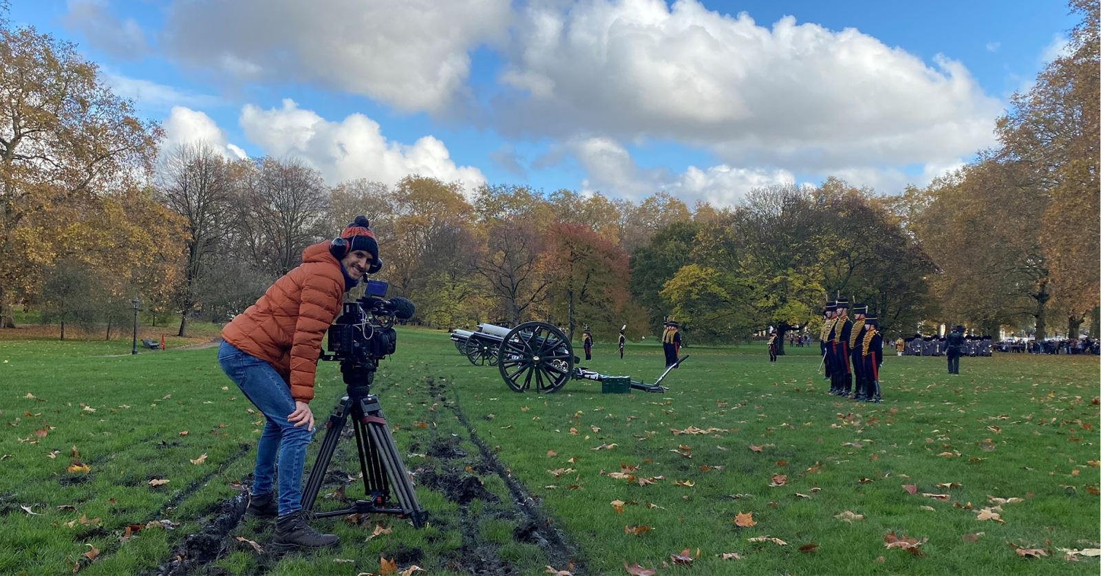 Welcome to new GTC member Nicolas Hambleton: A very loud day filming the Prince Charles Birthday Salute!