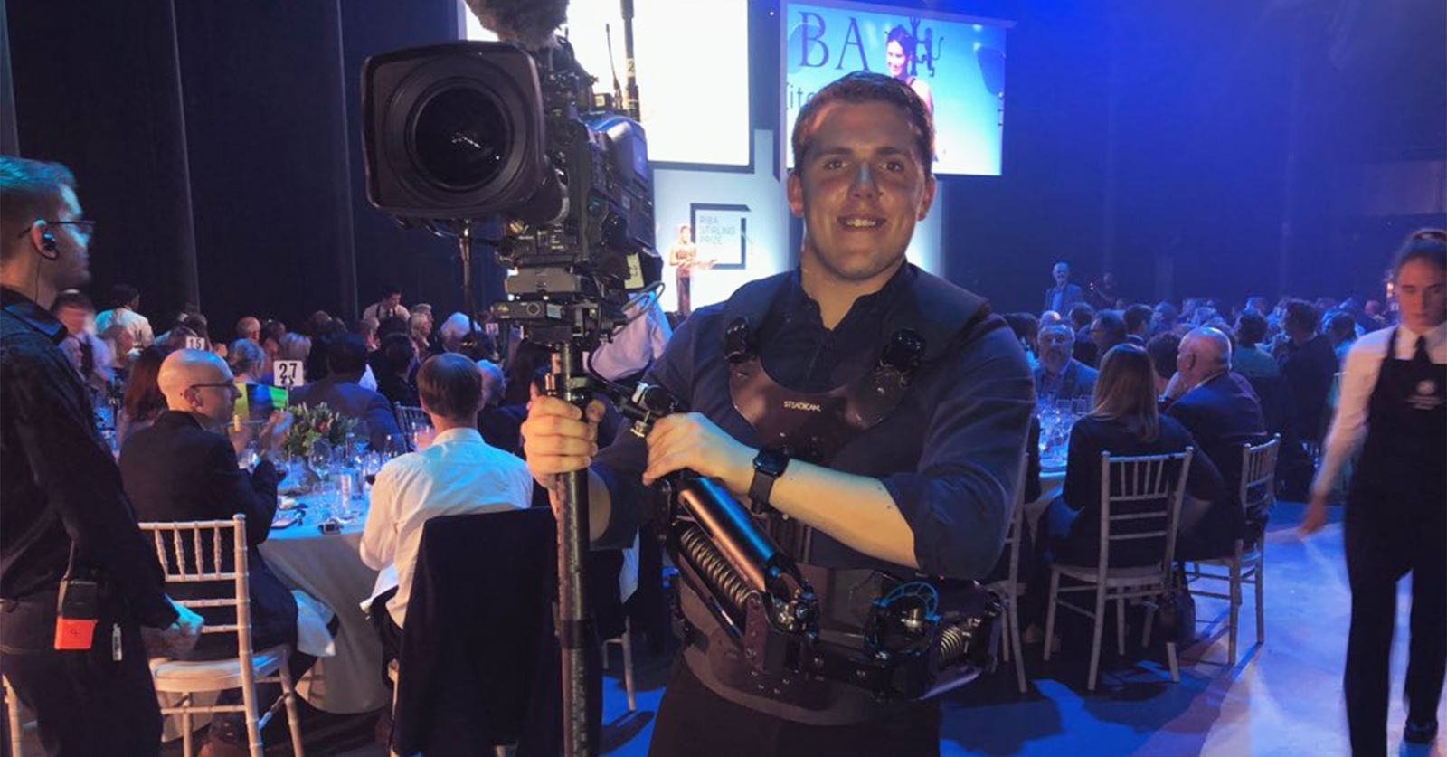 Welcome to new GTC member BBC News cameraman/editor Rob Taylor, seen here covering the Turner Prize last year