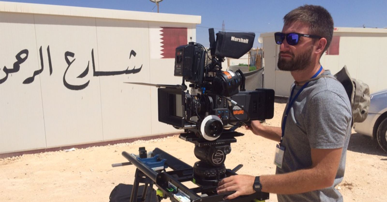Welcome to new GTC member Ross Pimlott – filming at Zataari refugee camp on the Jordan/Syria border with ARRI Alexa