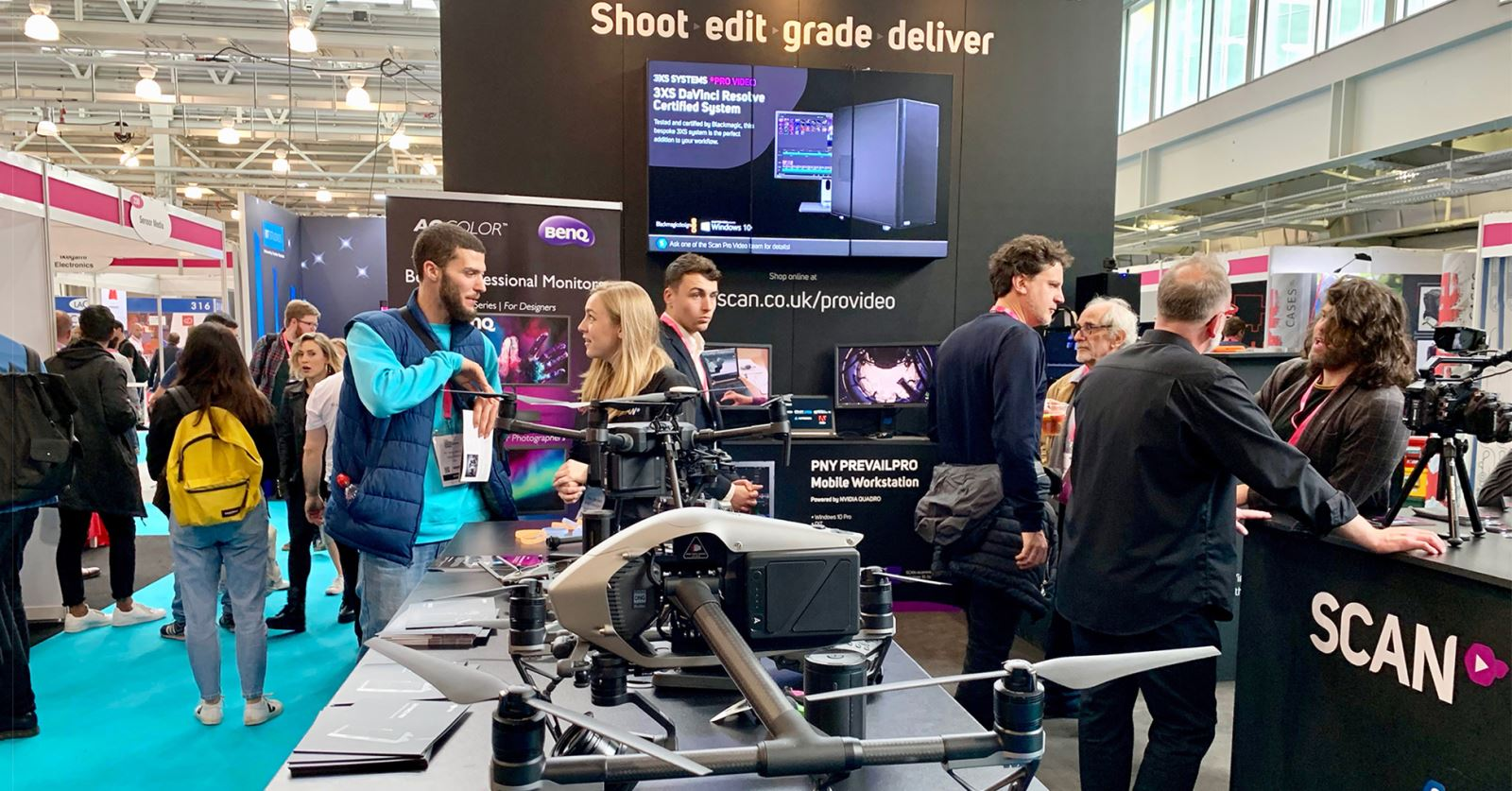 GTC sponsor Scan Pro Video's stand at the Media Production Show