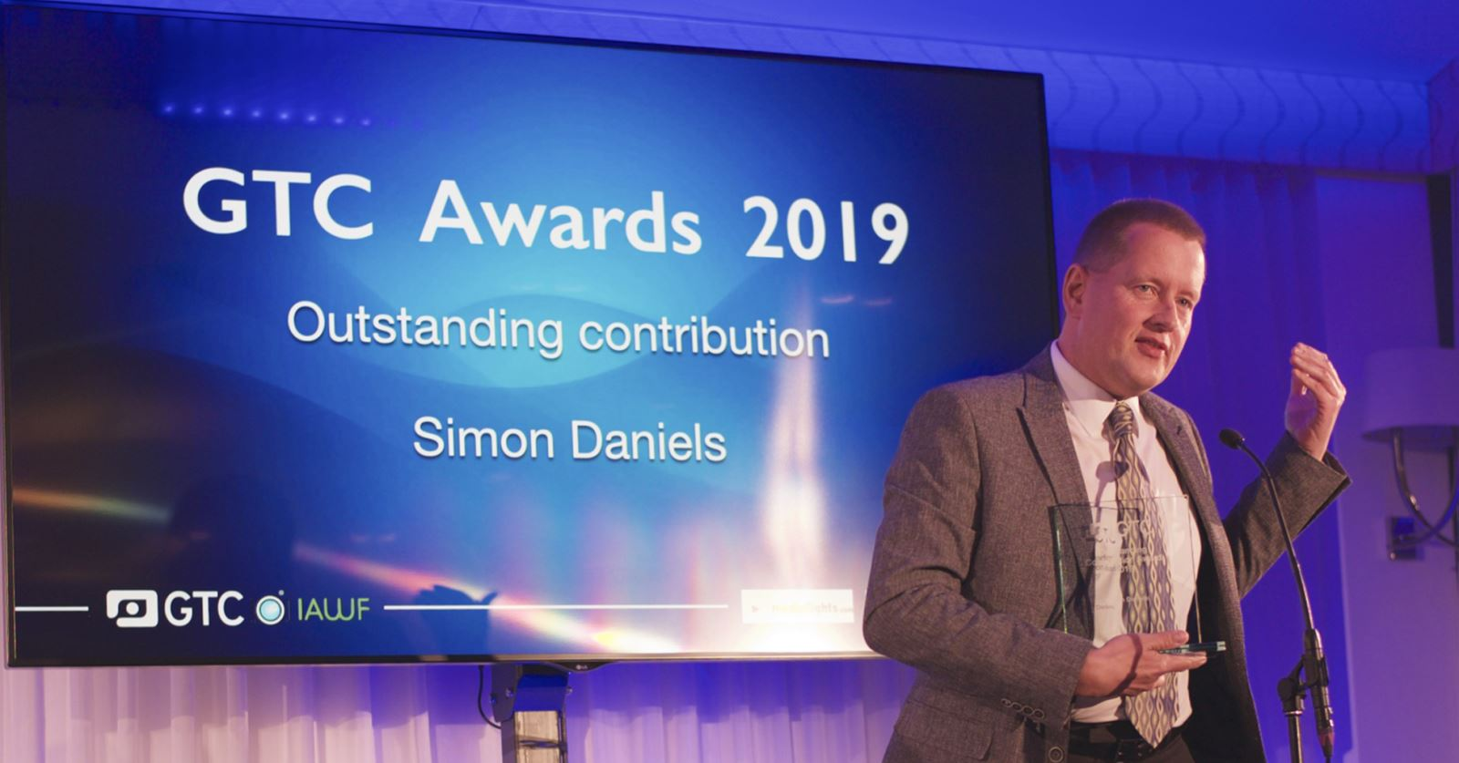 The GTC's Outstanding Contribution Award went to Simon Daniels, whose timely CPR action saved Glenn Hoddle's life