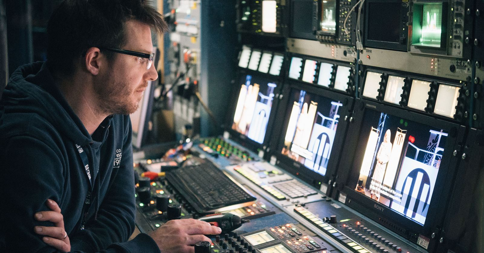 We're pleased to welcome as a GTC member vision engineer Gareth Gordon, here working in Stornoway in BBC Scotland's OB1