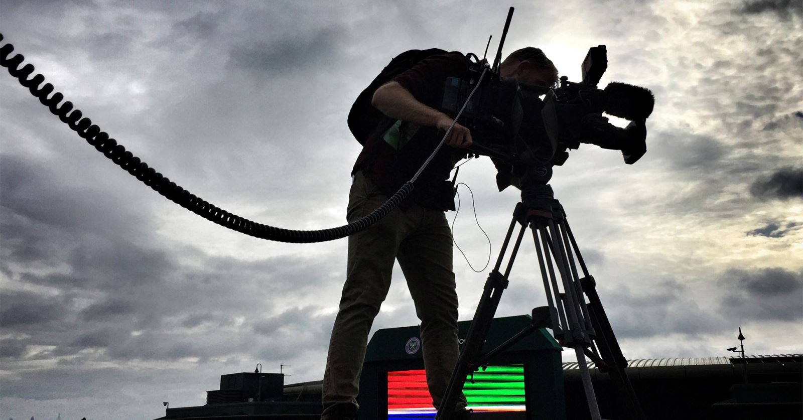 Thanks to Sound Recordist Paul Cutler for this lovely moody shot from this year's Wimbledon Tennis