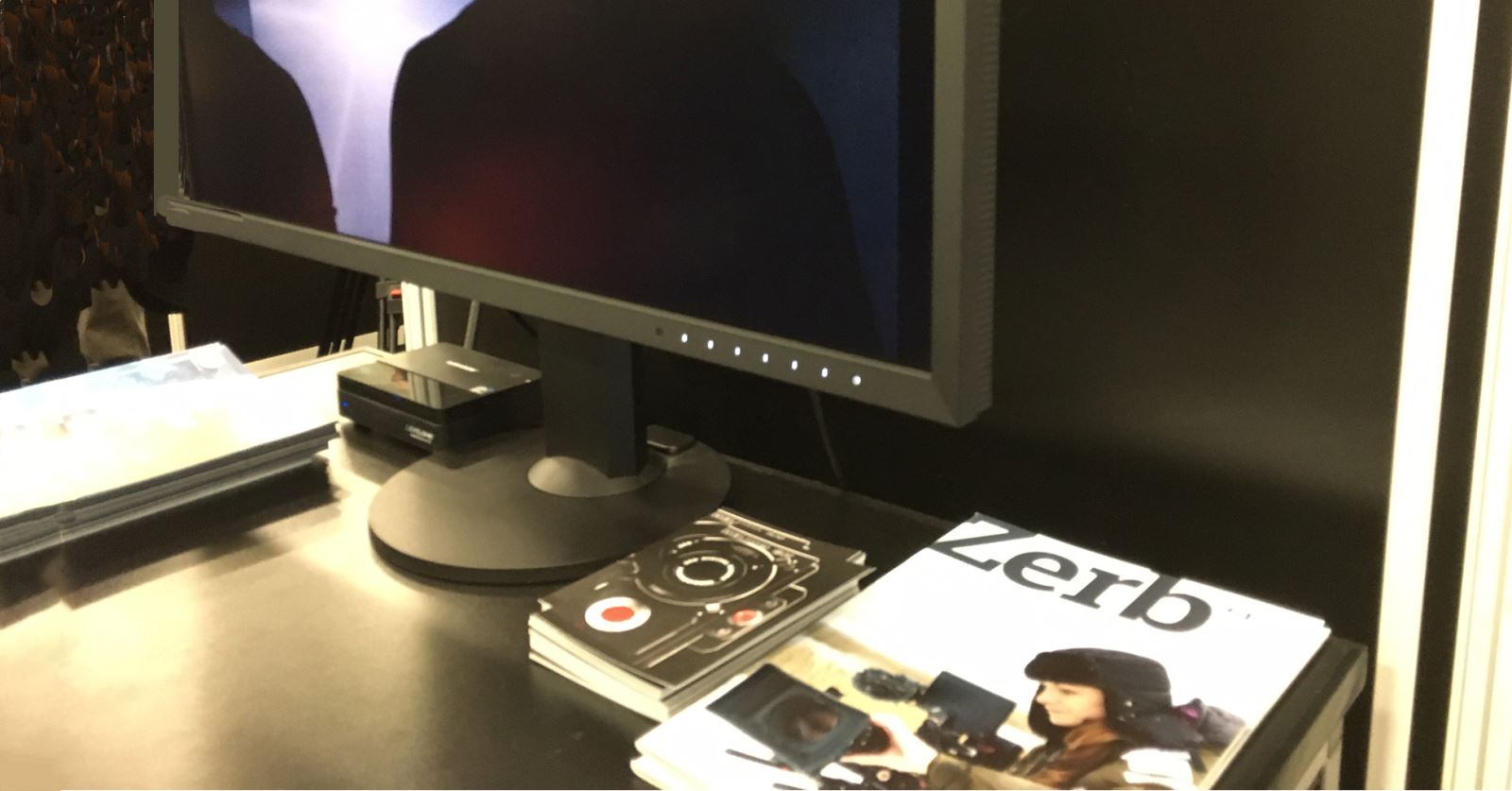 The current issue of Zerb magazine on display in the RED Digital Camera booth at the Media Production Show