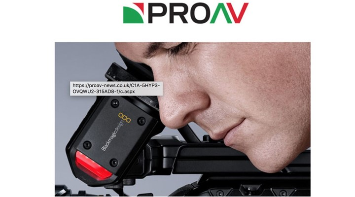 ProAV: Blackmagic URSA Mini Pro for Professionals Event Day