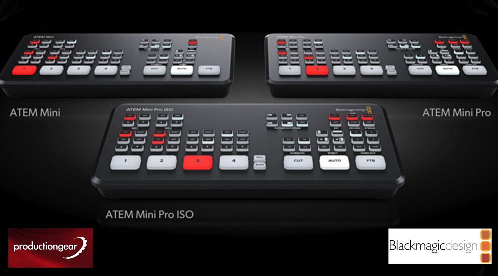The Guild Of Television Camera Professionals Three Great Blackmagic Atem Mini Models From Production Gear Gtc The Guild Of Television Camera Professionals