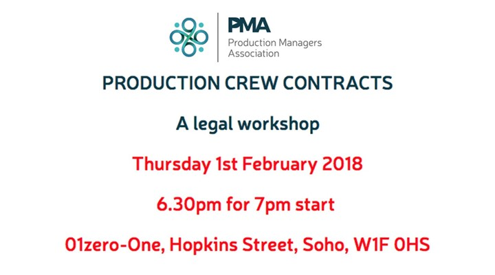 PMA Workshop: Production Crew Contracts